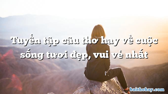 tuyen tap cau tho hay ve cuoc song tuoi dep vui ve nhat - Sắc màu Sài Gòn - Nguyễn Khắc Thiện