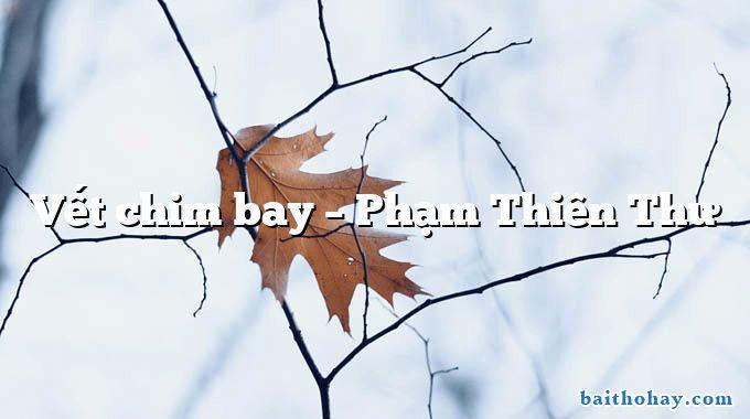 Vết chim bay  –  Phạm Thiên Thư