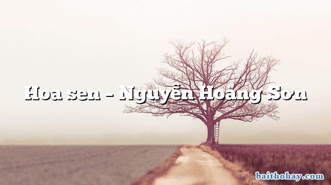 Hoa sen – Nguyễn Hoàng Sơn