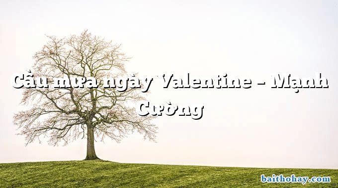 Cầu mưa ngày Valentine – Mạnh Cường
