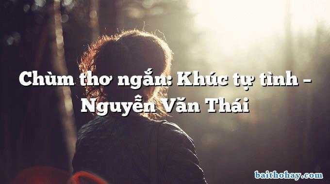 Chùm thơ ngắn: Khúc tự tình – Nguyễn Văn Thái