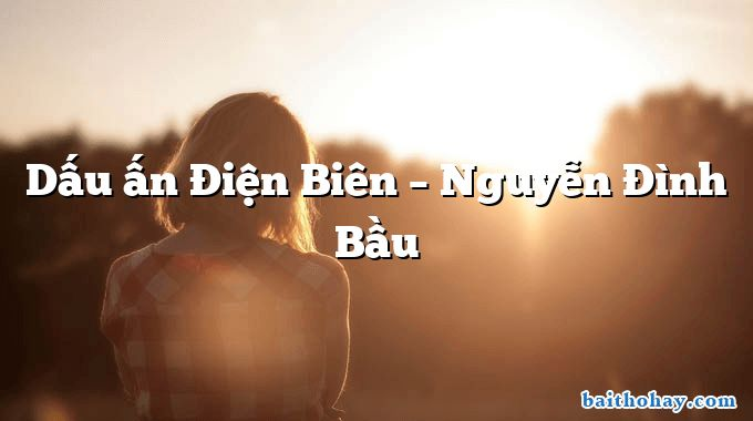 Dấu ấn Điện Biên – Nguyễn Đình Bầu
