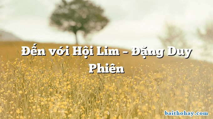den voi hoi lim dang duy phien - Máy bơm nước - Võ Văn Trực