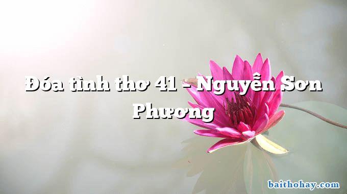 Đóa tình thơ 41 – Nguyễn Sơn Phương