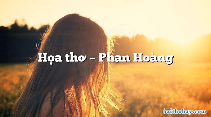 Họa thơ – Phan Hoàng
