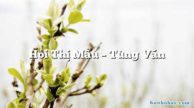 Hỏi Thị Mầu – Tùng Văn