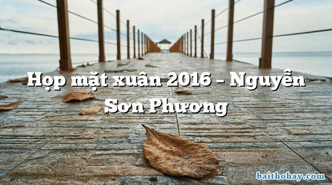 Họp mặt xuân 2016 – Nguyễn Sơn Phương