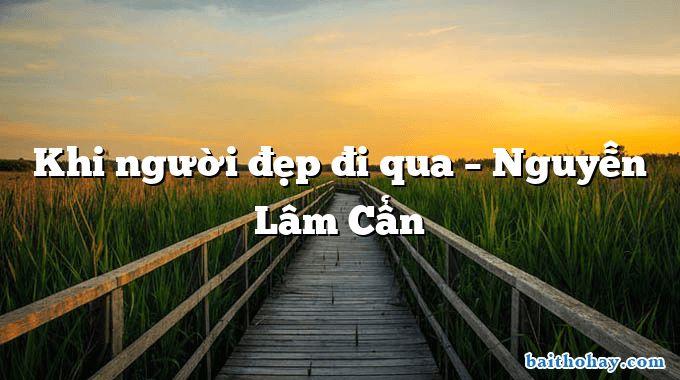 Khi người đẹp đi qua – Nguyễn Lâm Cẩn