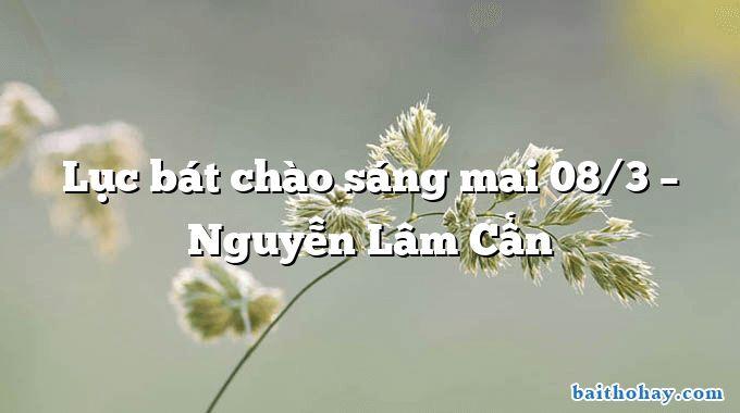Lục bát chào sáng mai 08/3 – Nguyễn Lâm Cẩn