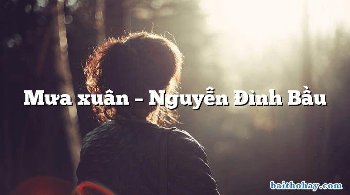 Mưa xuân – Nguyễn Đình Bầu