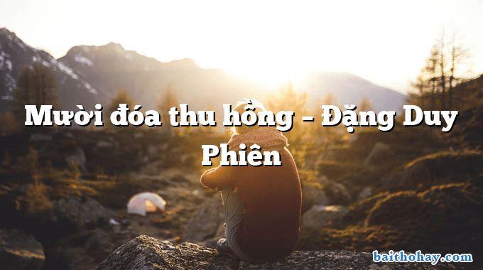 Mười đóa thu hồng – Đặng Duy Phiên