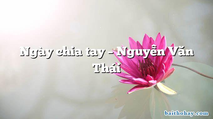 Ngày chia tay – Nguyễn Văn Thái