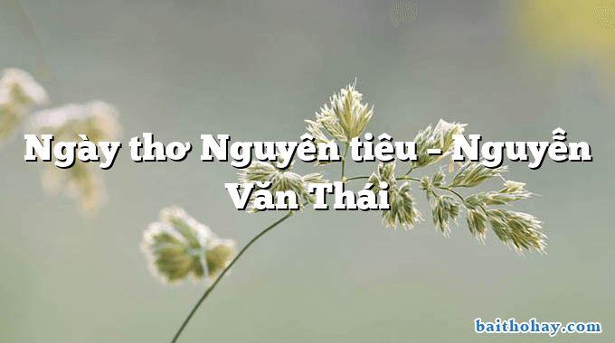 Ngày thơ Nguyên tiêu – Nguyễn Văn Thái