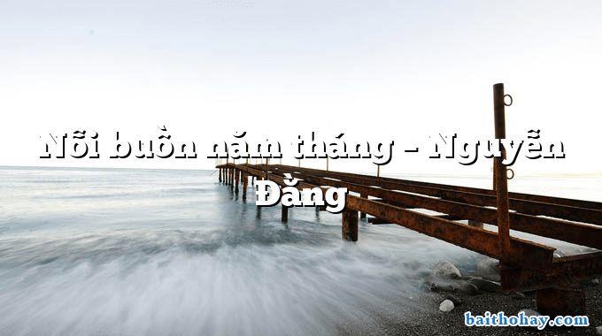 Nỗi buồn năm tháng – Nguyễn Đằng