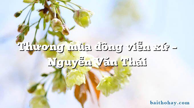 Thương mùa đông viễn xứ – Nguyễn Văn Thái