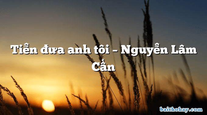 Tiễn đưa anh tôi – Nguyễn Lâm Cẩn