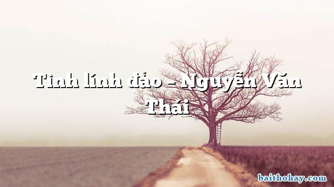Tình lính đảo – Nguyễn Văn Thái