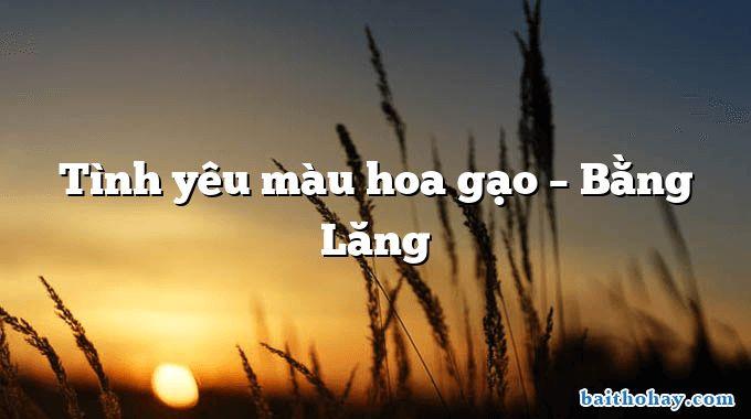 tinh yeu mau hoa gao bang lang - Thư Trung thu - Hồ Chí Minh
