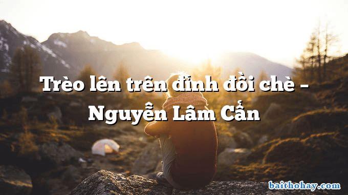 Trèo lên trên đỉnh đồi chè – Nguyễn Lâm Cẩn