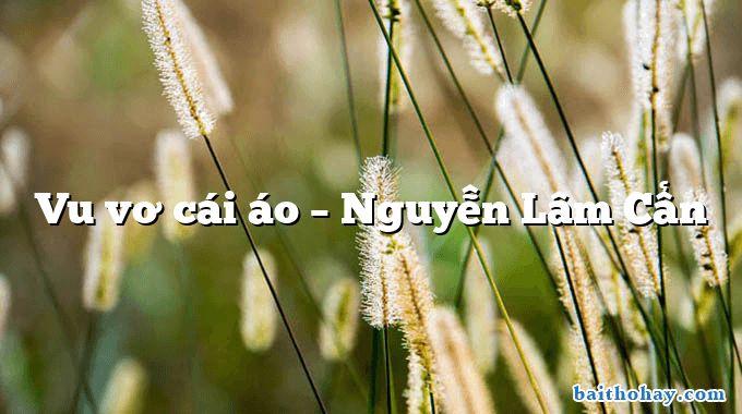 Vu vơ cái áo – Nguyễn Lâm Cẩn