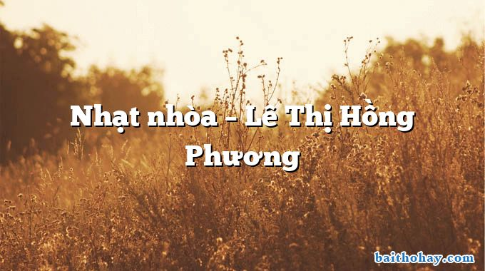 nhat nhoa le thi hong phuong - Mây - Mưa - Trần Thị Mơ