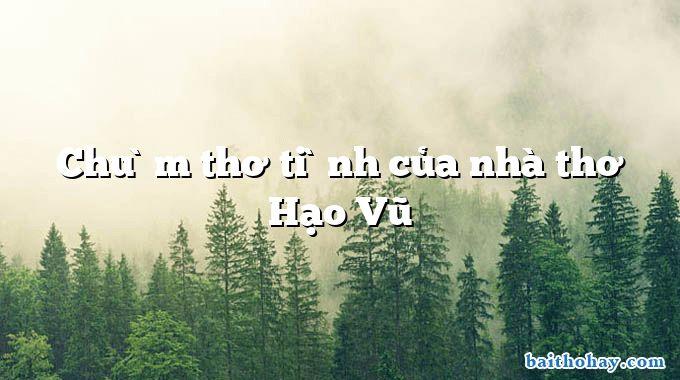 Chùm thơ tình của nhà thơ Hạo Vũ