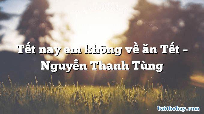 Tết nay em không về ăn Tết – Nguyễn Thanh Tùng